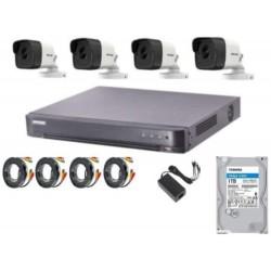 HIKVISION 5MP HD 4 Cameras  4CH DVR 1TB HDD