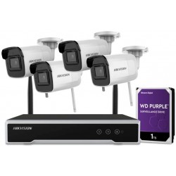 hIKVISION 4 Channel NVR recorder CCTV 4MP HD Wi-Fi Kit with 4 camera and Hard drive