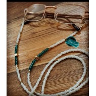 Freshness chain in white with turquoise